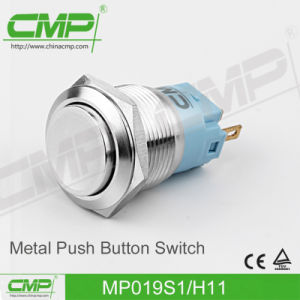 CMP19mm Flat Head Waterproof Push Button Switch (TUV, CE) pictures & photos