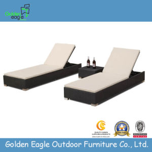 Guangdong Factory Outdoor Sun Lounger with PE Rattan
