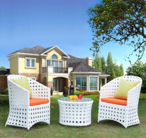 Outdoor Woven PE Rattan Tables and Chairs Tables and Chairs (Z316) pictures & photos