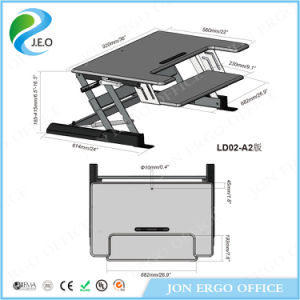 Jeo Ld02 A2 Middle Size Black Cheap Computer Adjustable Height Desk pictures & photos