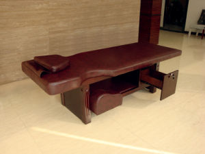 Small Wooden Foot Bed with Drawer Hotel Furniture pictures & photos