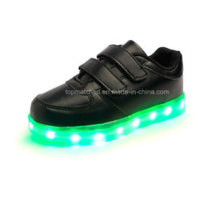 High Quality LED Light up Kids Shoes, Popular LED Kids Shoes pictures & photos