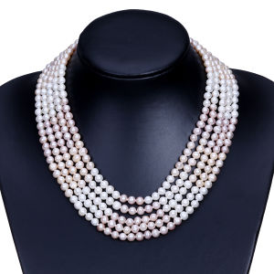 Elegant Luxury Wedding Wide Freshwater Pearl Necklace pictures & photos
