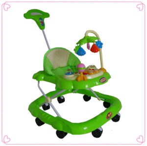 Plastic Baby Walker with Push Bar pictures & photos