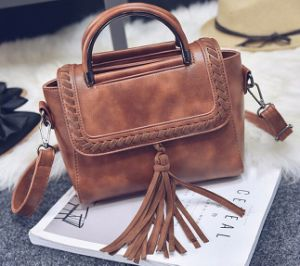 The New Rope Fringed Shoulder Fashion Ladies Handbag (BDMC137) pictures & photos