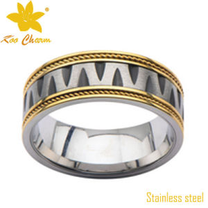 Str-078 Gold Ring Turns Finger Black pictures & photos