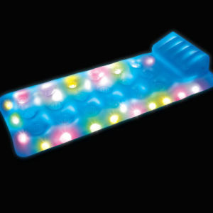 LED PVC Inflatable Air Mattress with Light for Pool Swimming pictures & photos