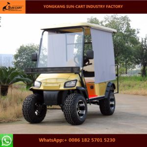 Ce Approved 4 Seater Electric Hunting Golf Cart with Sun Shade pictures & photos