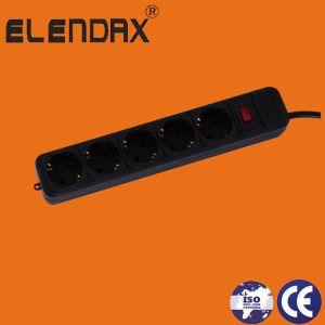 Black  Extension  Socket with Switch and Surge Protect (E2005ES-B) pictures & photos