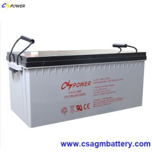Cspower 12V200ah Solar Deep Cycle Gel Battery for UPS, China Supplier pictures & photos