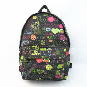 Scrawl All Over Print Kids Backpack pictures & photos