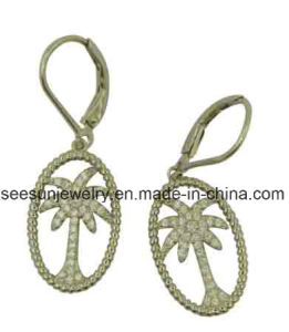 925 Silver New Fashion Design Coconut Palm Tree Earring pictures & photos