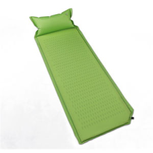 High Quality Single Sponge Camping Mattress with Pillow pictures & photos