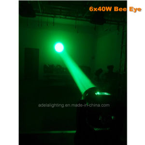 6X40W Bee Eyes LED Moving Head Beam Zoom Wash Stage Disco DJ Light pictures & photos