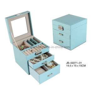 PU Packing Storage Display Beauty Jewelry Case Jewellery Box pictures & photos