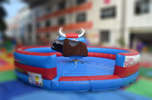 Inflatable Mattress Sport Games Mechanical Rodeo Bull pictures & photos