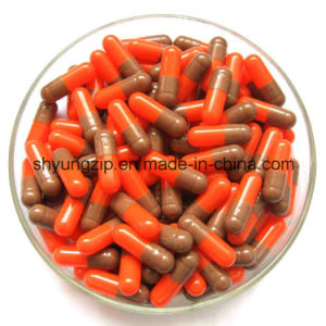 Hala Capsule Size 0 Red Yellow Color Gelatin Empty Capsules pictures & photos