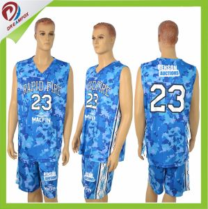 Make Your Own Sublimation Camo Reversible Women Basketball Jersey Design pictures & photos