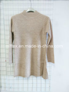 Turtleneck Long Velvet Knitted Clothes for Women pictures & photos