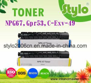 Consumable Laser Color Copier Printer Toner Cartridge Npg67/C-Exv-49/Gpr53 for Canon C3330/C3320/C3325 Printer pictures & photos