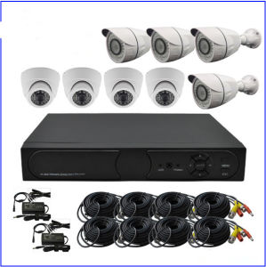 1.0MP CCTV Kits Standalone DVR with 4 Dome Camera 4 Bullet Camera pictures & photos