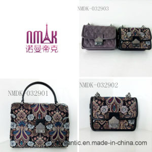 Trendy Mini Lady PU Embroidered Chain Leather Handbags (NMDK-032902) pictures & photos