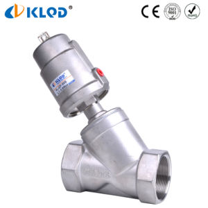 "Good Price Stainless Steel Pneumatic 2/2 Way 2"" Water Angle Valve pictures & photos"