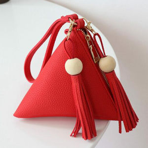Fashion Triangle Ladies Clutch Bags Small Purse with Tassels Sy7900 pictures & photos