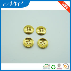 4hole Metal Alloy Sewing Button with Gold Color