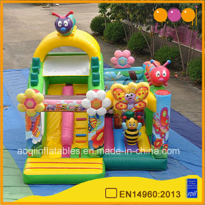 Beautiful Bee Inflatable Slide Bouncer Bed (AQ01716) pictures & photos
