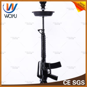 M2 Submachine Gun Modelling Water Pipes Resin Hookah Electroplating Process Water Shisha Tobacco Bowl of Black pictures & photos