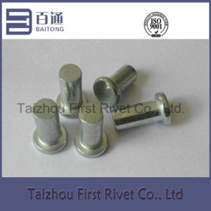 8X20.5mm White Zinc Color Flat Head Solid Steel Rivet