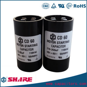 250V CD60 Motor Start Capacitor pictures & photos