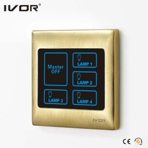 Ivor Smart Home Touch Screen Light Switch Wall Switch with Master Control / Remote Control pictures & photos