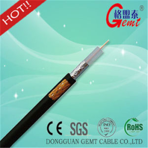 Copper Conducted PE Insulated Rg59 RG6 Coxial Cable pictures & photos