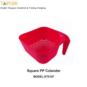 Square PP Colander, PP Basket, Colander Kitchenware pictures & photos