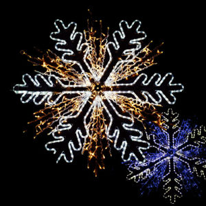 New Snowflake Combination LED Lighting Decoration for Outdoor Malls Christmas pictures & photos