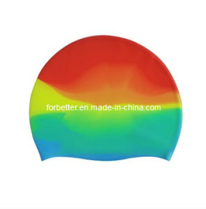Printing Silicone Swim Cap with High Quality (SSC-004) pictures & photos
