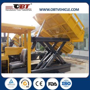 Obt 3 Ton Hydraulic Site Dumper with Lift Platform pictures & photos