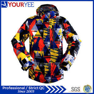 Customized Windbreaker Waterproof Breathable Thermal Men′s Ski Jackets Factory (YSJ113) pictures & photos