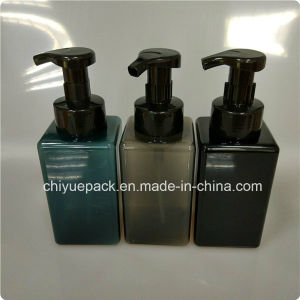 450ml PETG Semi-Transparent Black Square Foam Pump Plastic Bottle, Liquid Soap Bottle