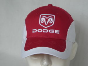 100% Cotton White Embroidery Red Baseball Cap for Adults pictures & photos