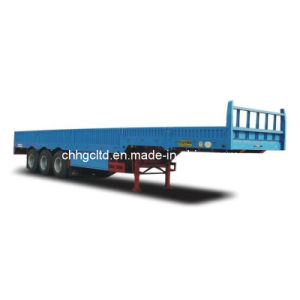 ISO CCC Approved 3 Axles 50tons Side Wall Cargo Trailer pictures & photos