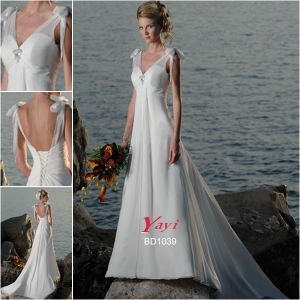 Bridal Wedding Dress, Beach Wedding Dress (BD1039)