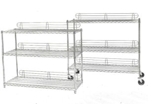 5 Layers Movable Wire Shelving with Ledge pictures & photos