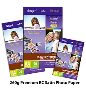 Professional Premium Luster & Rough Satin Inkjet Photo Paper 260gsm ( RC base )