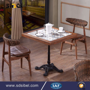 Wholesale Wooden Cafe Table Square Dining Table Sbe-CZ0613 pictures & photos
