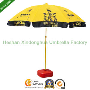 2.2m Custom Logo Printed Beach Umbrellas Sun Parasol (BU-0048) pictures & photos