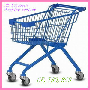 60L European Style Steel Shopping Trolley