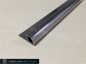 Aluminium Radius Tile Trim in Anodised Steel Grey Color pictures & photos